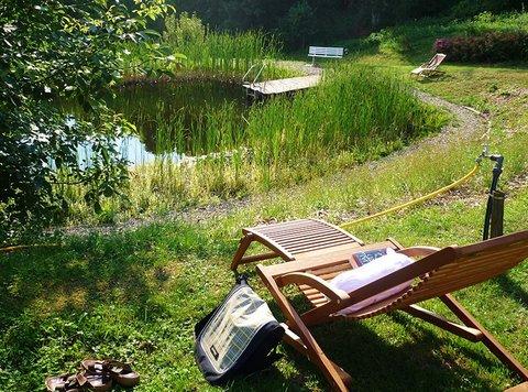 Naturbadeteich mit Liegewiese